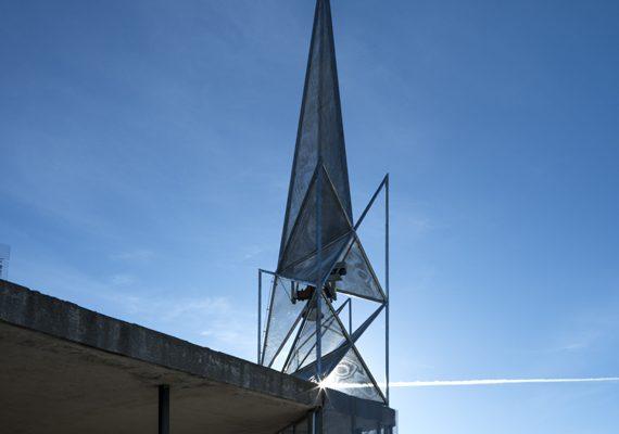Torre campanario de la Parroquia de Ntra. Sra. del Pilar de Campamento, Madrid